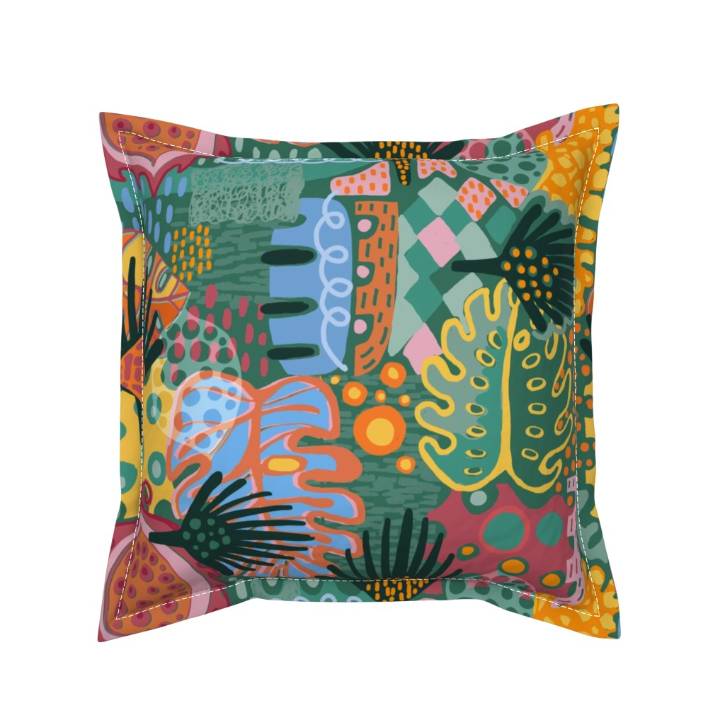 Serama Throw Pillow featuring Leaf It All In. by slumbermonkey
