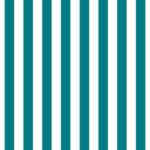 "stripes 1/2"" dark teal vertical"