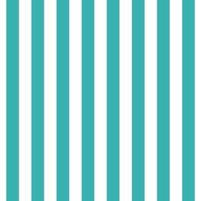 """stripes 1/2"""" teal vertical"""