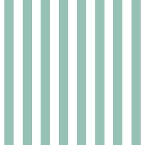 "stripes 1/2"" faded teal vertical"