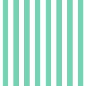 """stripes 1/2"""" sea foam green vertical"""