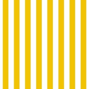 "stripes 1/2"" mustard yellow vertical"