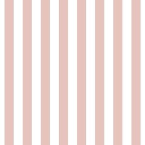 "stripes 1/2"" dusty pink vertical"