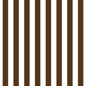 "stripes 1/2"" brown vertical"