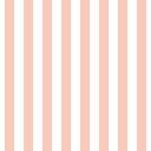 """stripes 1/2"""" blush vertical #F9CABA"""