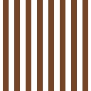 "stripes 1/2"" chocolate brown vertical"