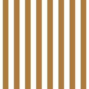 "stripes 1/2"" caramel vertical"