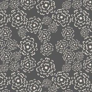 Scatter Floral | Porcelain on Charcoal