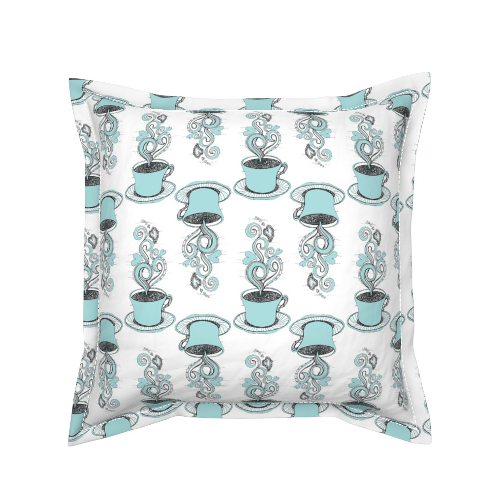 Serama Throw Pillow featuring Hot Coffee by rebeccaink