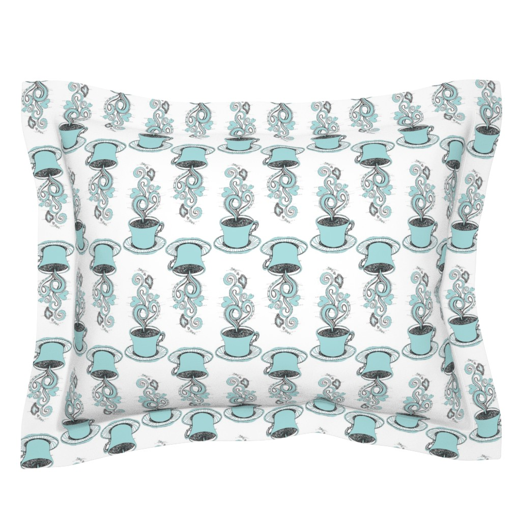 Sebright Pillow Sham featuring Hot Coffee by rebeccaink