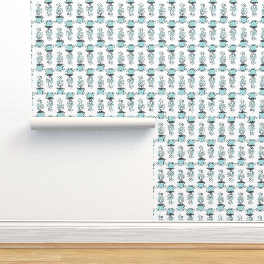 Isobar Durable Wallpaper featuring Hot Coffee by rebeccaink