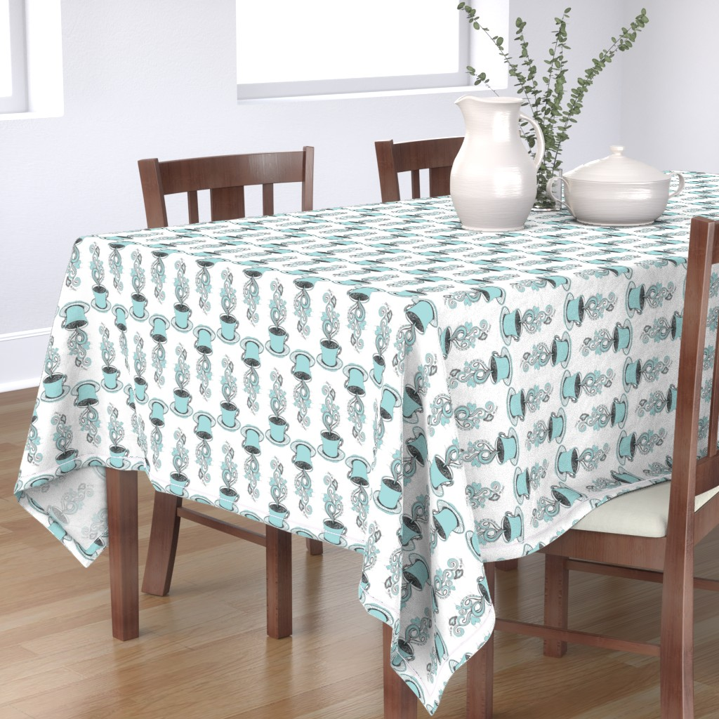 Bantam Rectangular Tablecloth featuring Hot Coffee by rebeccaink