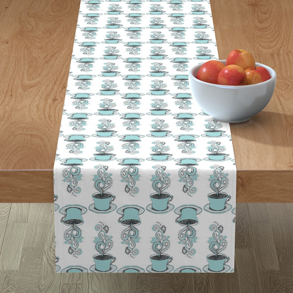 Minorca Table Runner featuring Hot Coffee by rebeccaink