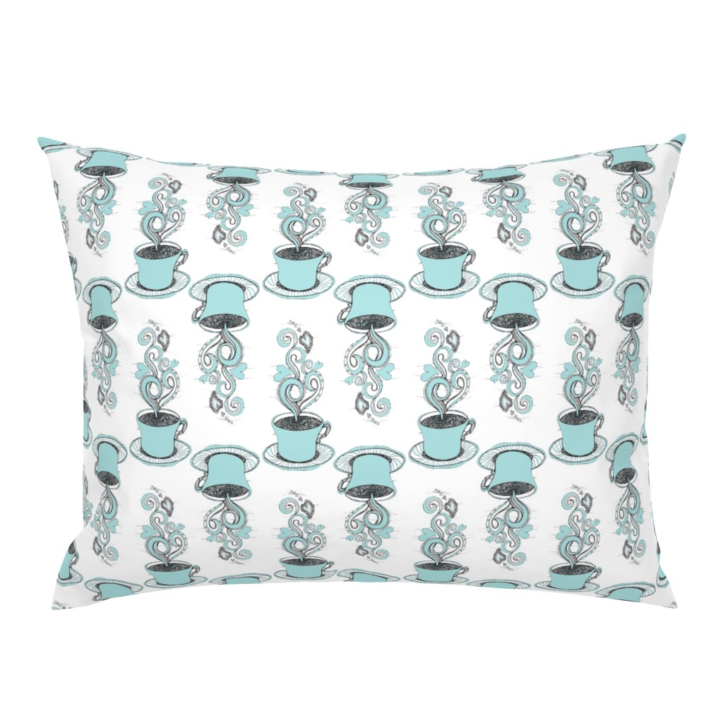 Campine Pillow Sham featuring Hot Coffee by rebeccaink