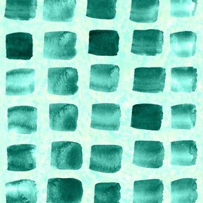 19-04T Nautical Green Squares Abstract