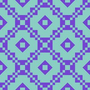 Dream Paths Teal Purple