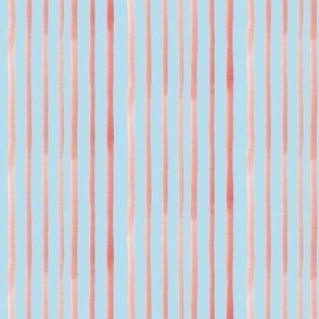 red stripes on blue background