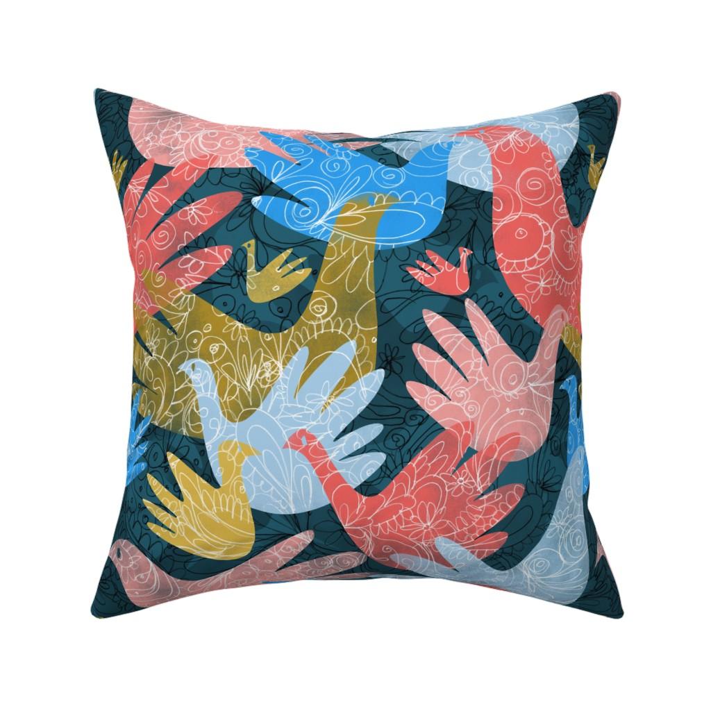 Catalan Throw Pillow featuring Chromaphonia by mariaspeyer
