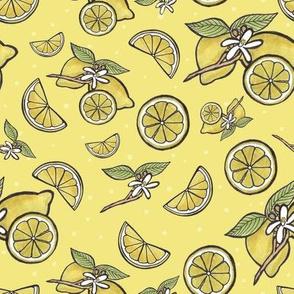 sunny lemon yellow
