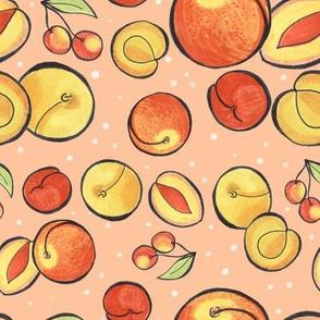cherries peaches nectarines