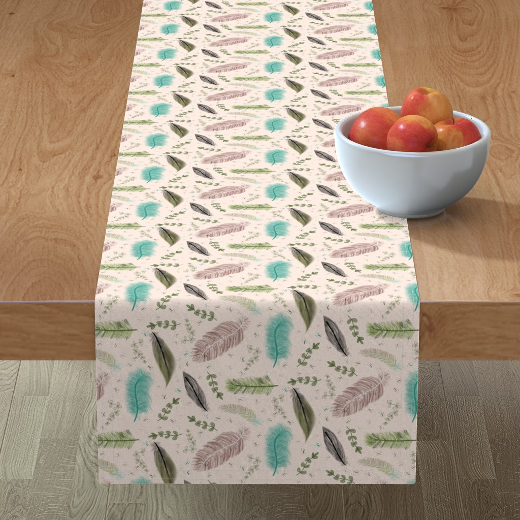 Minorca Table Runner featuring War Paint and Soft Feathers+ by gargoylesentry