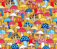 Maximalist Mushrooms - Mustard Large Scale