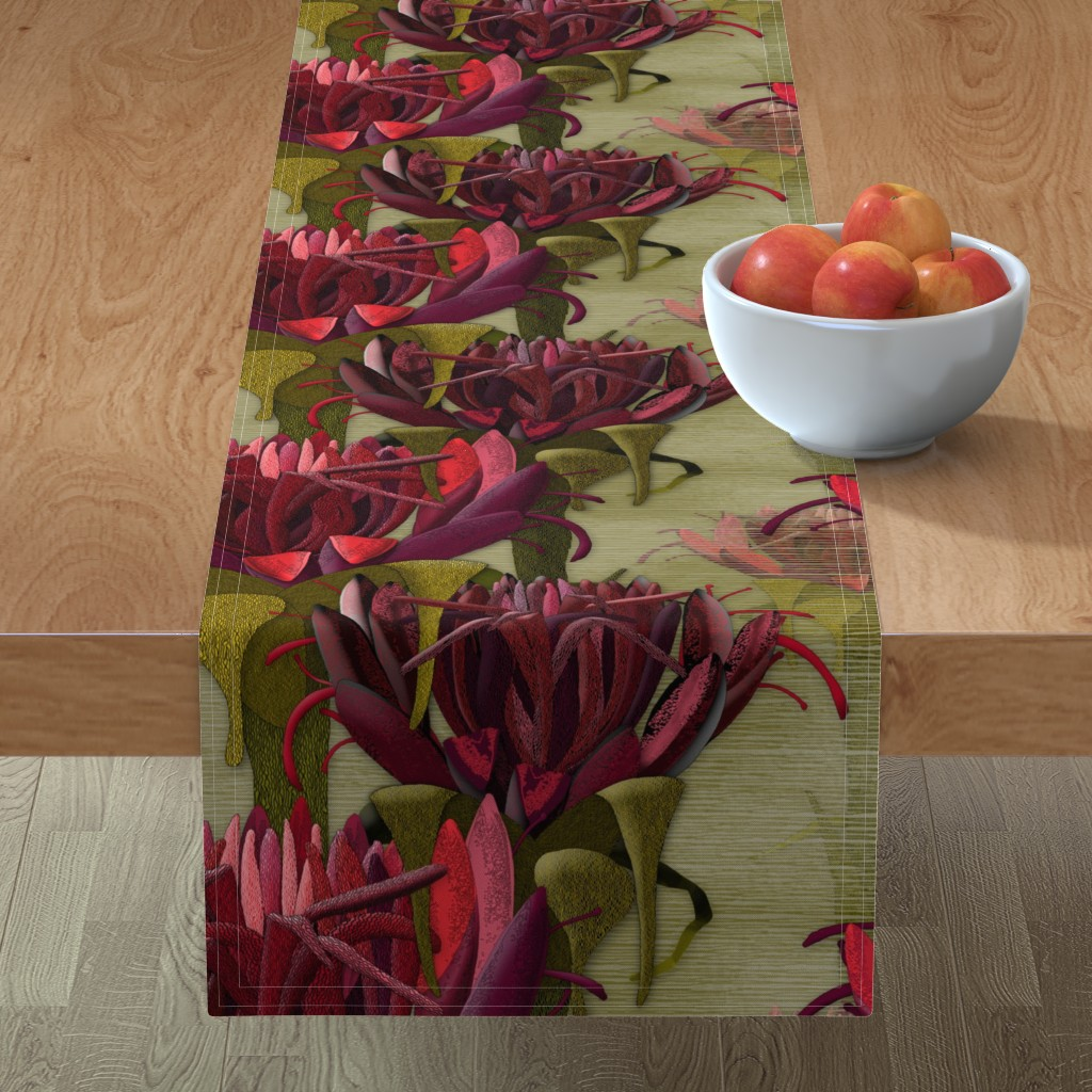 Minorca Table Runner featuring Maximalist- The Gymea Lily by j9design