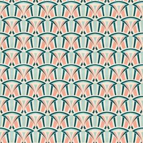 Art Deco Luxury Waves - tender spring colors
