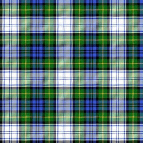 "Gordon dress tartan, 3"" modern colors"