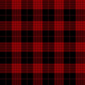 "Cameron black and red tartan variant, 2"""