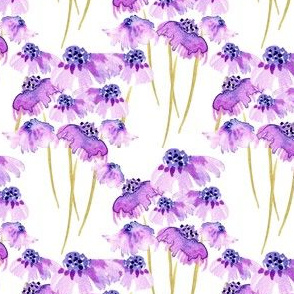 19-04S Lilac Lavender Floral Watercolor
