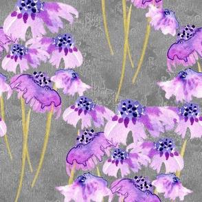 19-04Q Lilac Lavender Purple Gray Floral