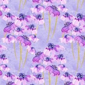 19-04P Lilac Lavender Purple  Periwinkle Floral