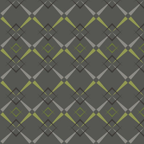 mid century argyle - gray lime