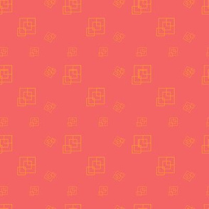 Coral  - Squares - Support pattern