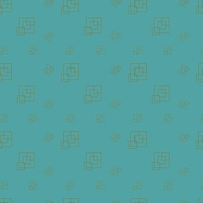 Ocean blue - Squares - Support pattern