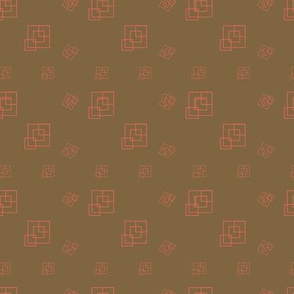Brown Coral  - Squares - Support pattern