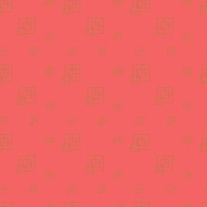 Coral tones  - Squares - Support pattern