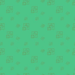 Green Mint  - Squares - Support pattern
