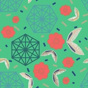 Hexagon Mint Green