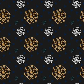 Hexagon and Squares Dark space