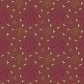 Hexagon and Squares Brown tones