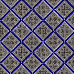 Amulet - Diagonal - Cobalt