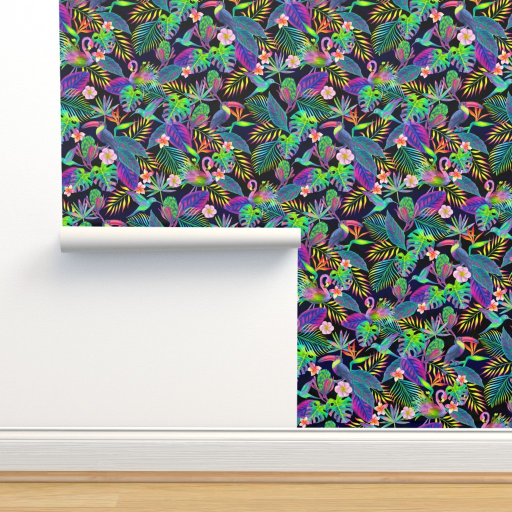 Isobar Durable Wallpaper featuring Abundant Neon Paradise  by gingerlique
