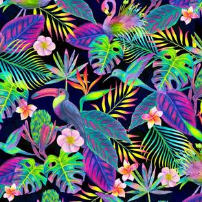 Abundant Neon Paradise - Large