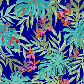 Foliage Yves Tropical - Turquoise