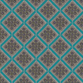 Amulet - Diagonal - Teal