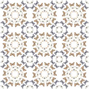 Moorish butterfly tiles
