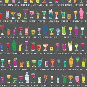 Line 'em up! - Speakeasy Cocktails on Paynes Grey - Small