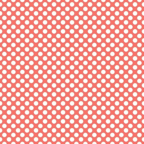 19-04L Coral Polka Dot Large